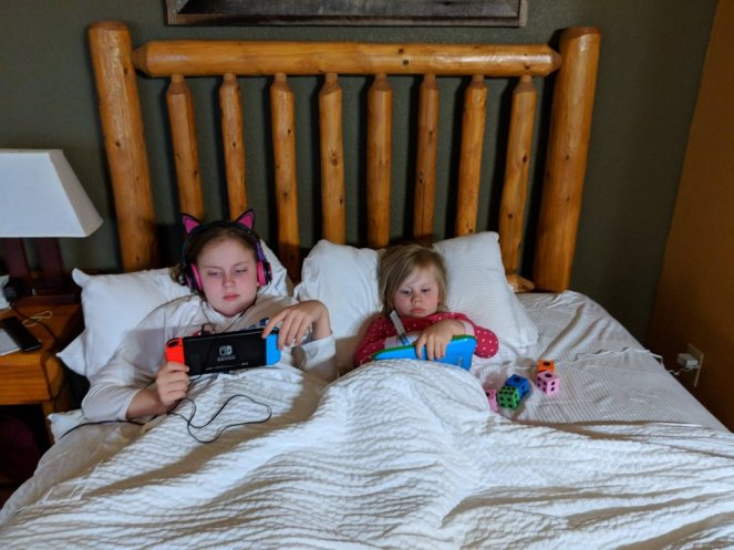 Sisters playing video games - Will BEE Fine blog